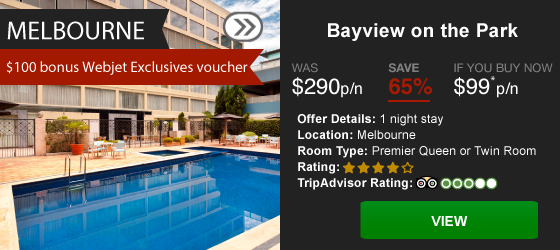 Webjet exclusives' hot hotels sale, save up to 65% off on Melbourne & Sydney stays just for 72 hours only