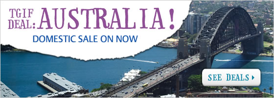 Tgif deals domestic flights sale from $85 one way at Zuji.com.au