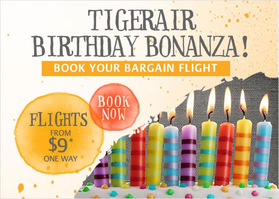 Tigerair domestic flights from $9 one way at Zuji.