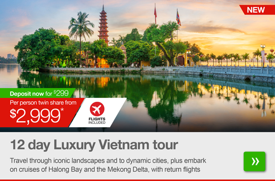 12 day Luxury Vietnam tour with flights